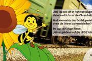 """Postkartenaktion zum """"Tag gegen Lärm"""" 2015 - mit Ohrenstöpsel"""