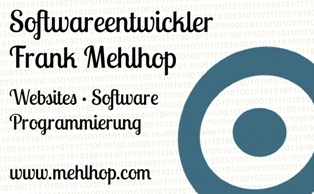 Softwareentwicklung Frank Mehlhop